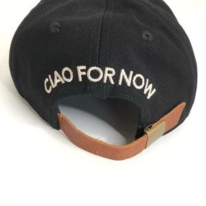 Madewell   Ciao For Now Embroidered Black Cap